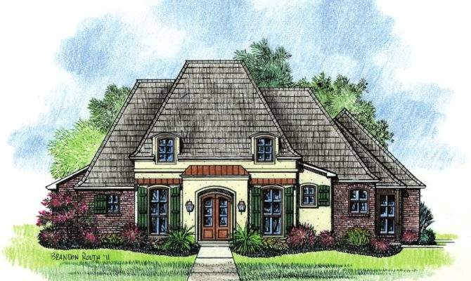 Adele Country French Home Plans Louisiana House