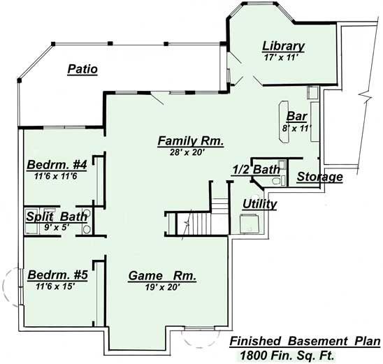 Amazing Basement Home Plans Ranch House Floor
