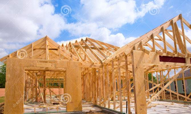 American Residential Wooden House Contruction
