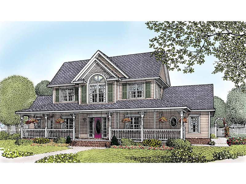Amish Hill Country Farmhouse Plan House Plans More