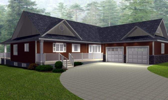 Angled Garage Bungalow House Plans Wooden Houses