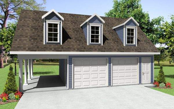 Apartment Car Garage Plans Backyard