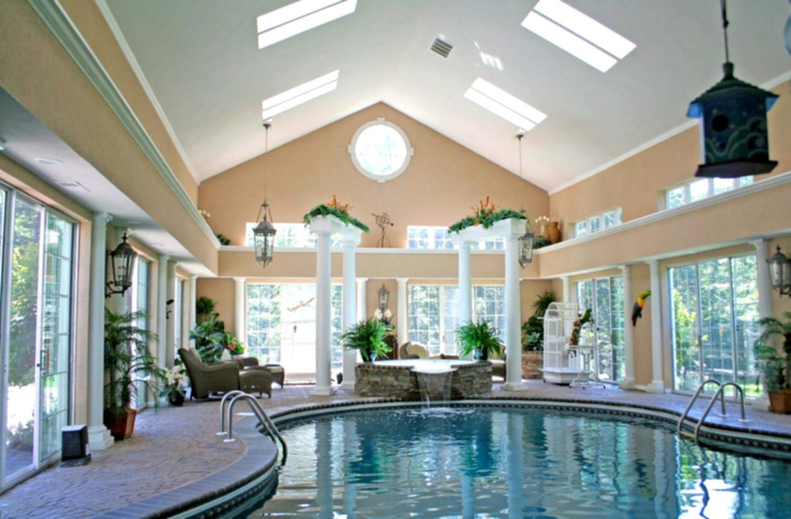 Appealing Lovely House Plans Indoor Swimming Pool