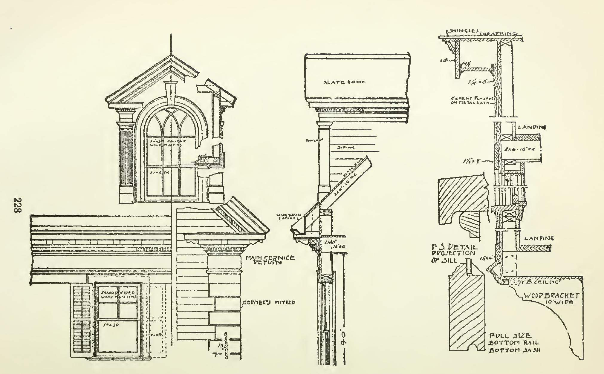 Architectural Drawings Details Floor Wall Method Scale Building