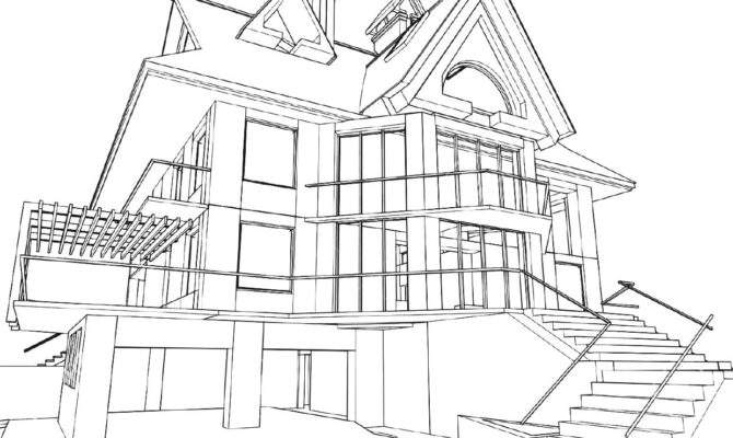 Architecture House Drawing Brucall
