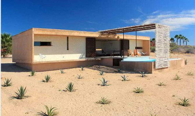 Architecture Minimal House Design Desert
