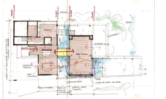 Architecture Photography Plan Sketch