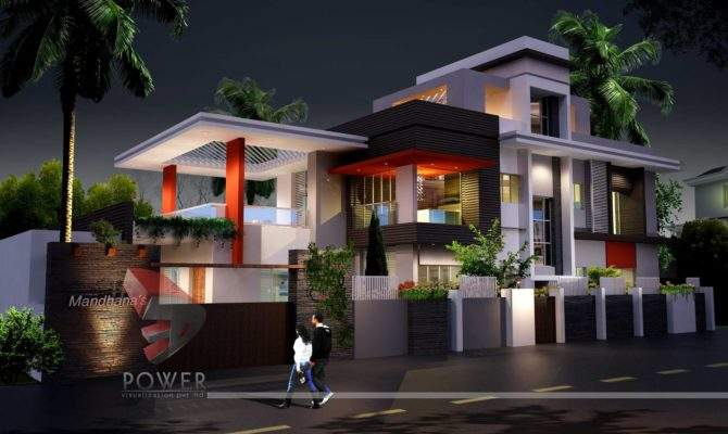 Architecture Rendering Ultra Modern Home Design