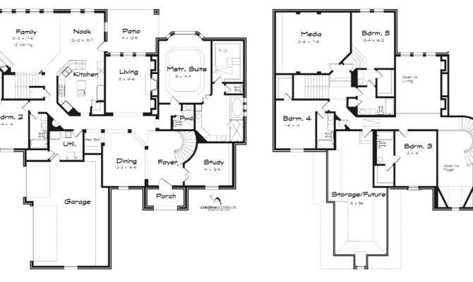 Architecture Story House Plans Bedrooms