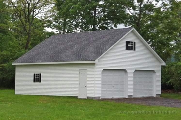 Attic Workshop Garage Roxbury Vinyl White