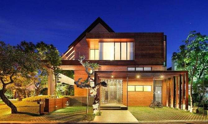 Awesome House Designs Houses Contemporary Tropical Plans