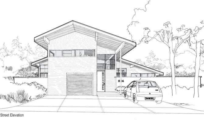 Back Modern House Sketches