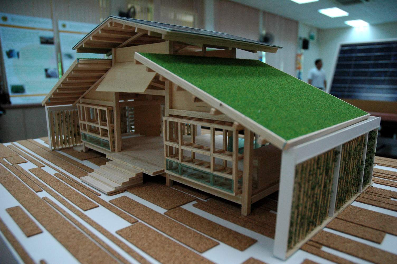 Bamboo House Design Miniature Green