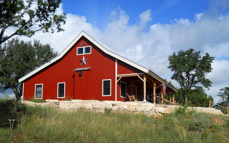 Barn Home Kit Open Porch Metal Building Homes