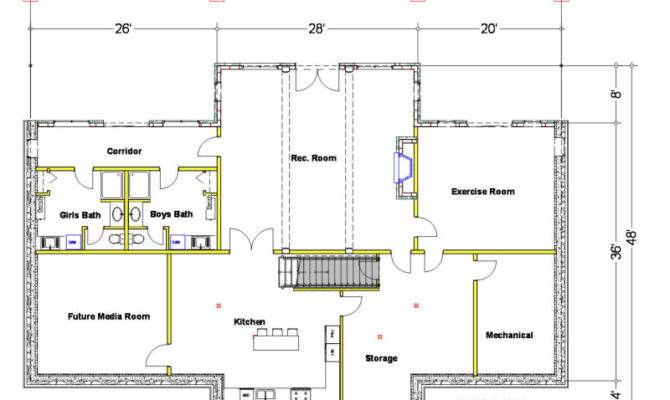 Basement Design Plans Impressive Home