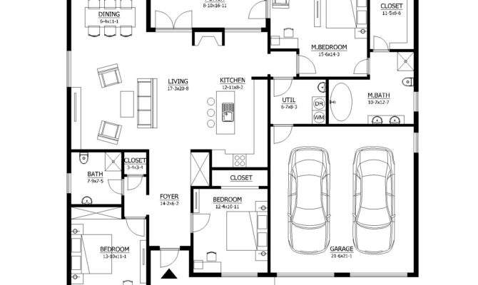 Basic House Plan Plans Main Floor