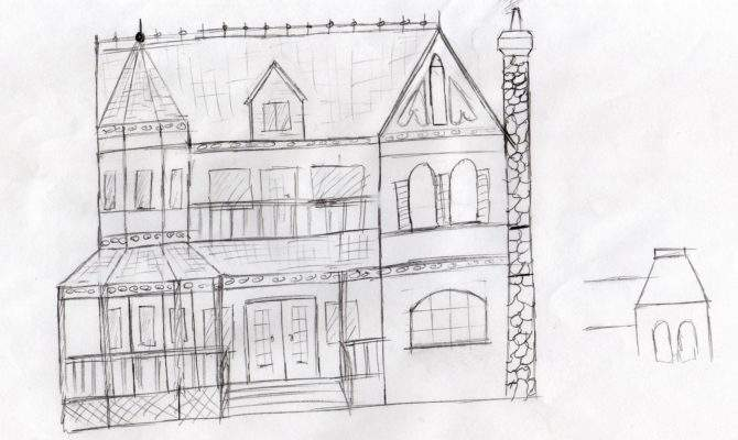 Basic House Sketch Sketches Layout Plan Simple