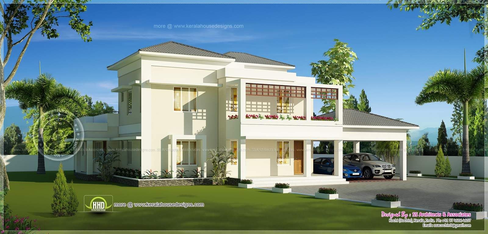 Beautiful Double Storey Modern Villa Exterior Kerala Home Design