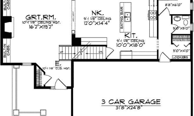 Beautiful Home Plan Space Efficient