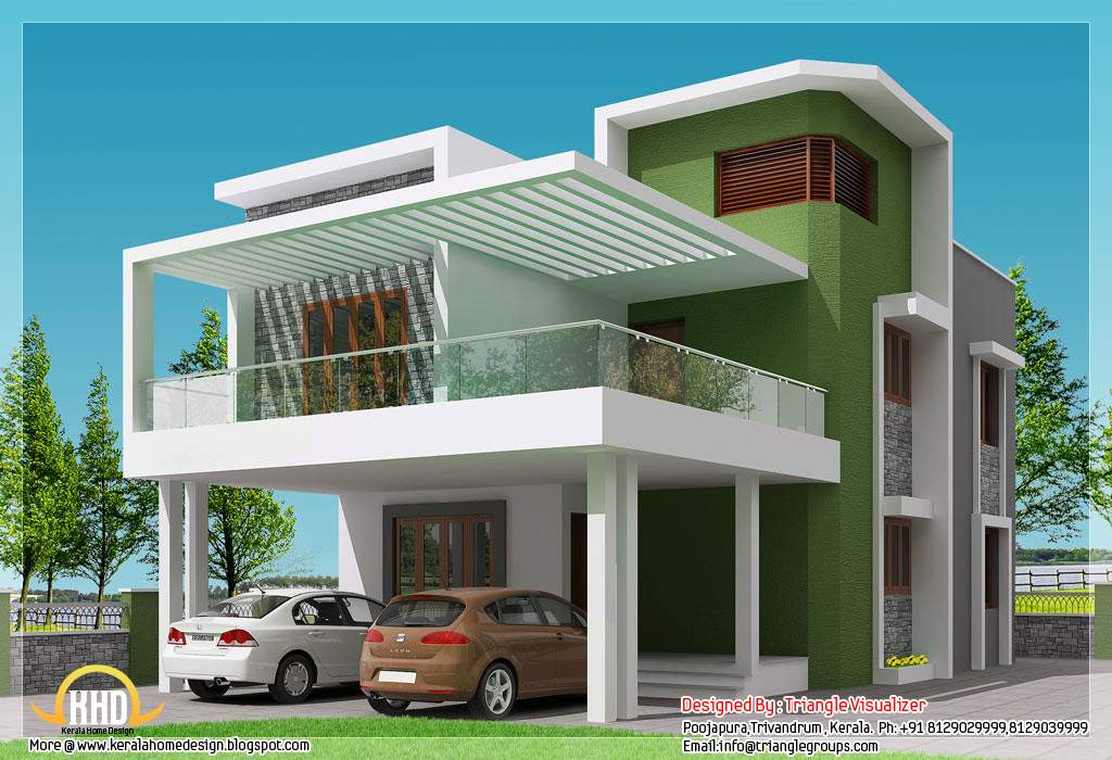 Beautiful Modern Simple Indian House Design Home