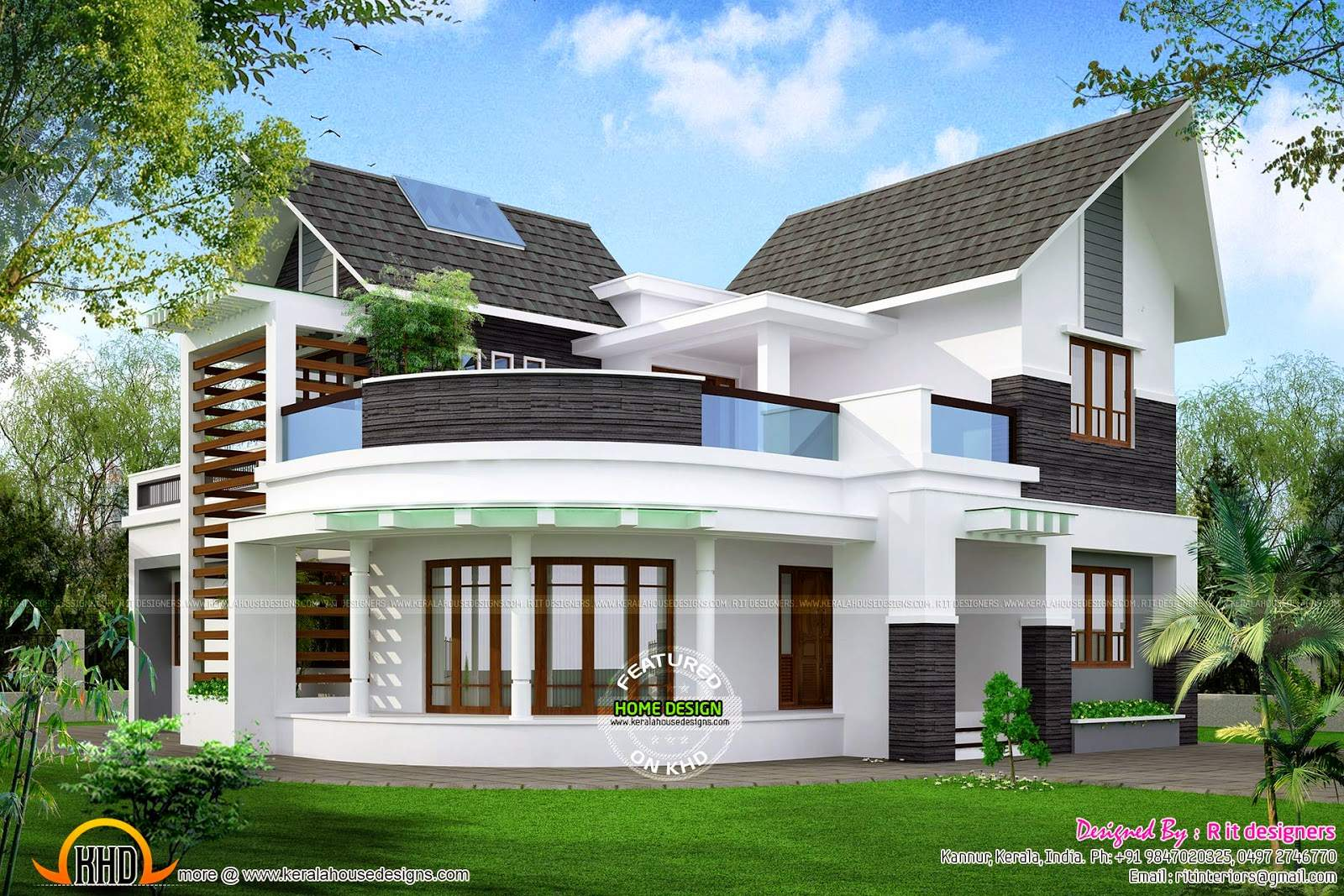 Beautiful Unique House Kerala Home Design Floor Plans