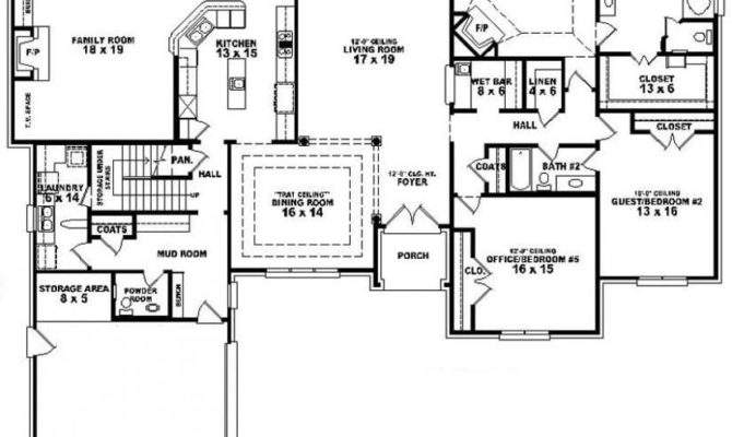 Bedroom Bath House Plans Beautiful One Story