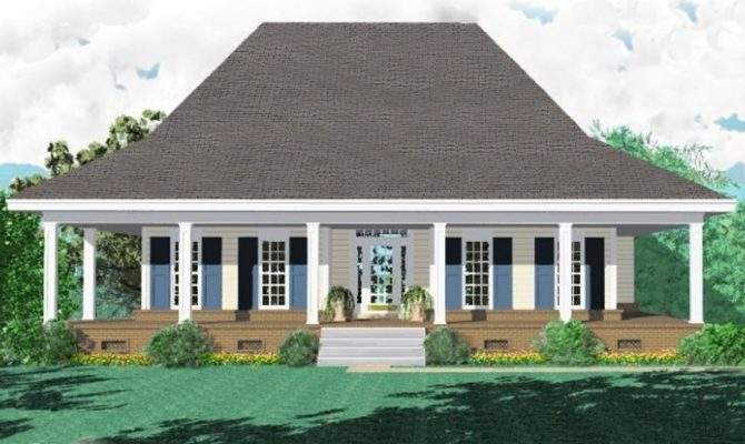 Bedroom Bath Southern Style House Plan Wrap Around Porch