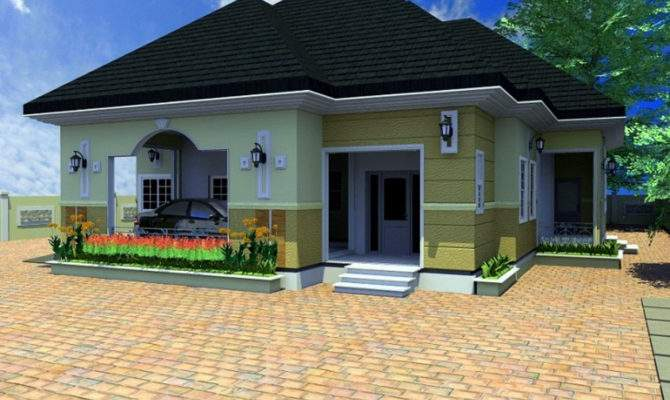 Bedroom Bungalow Architectural Design