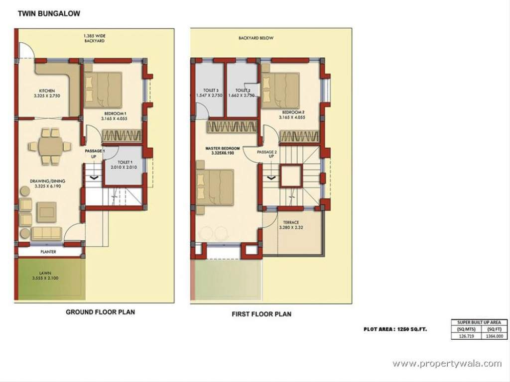 Bedroom Bungalow Plans Floor Plan