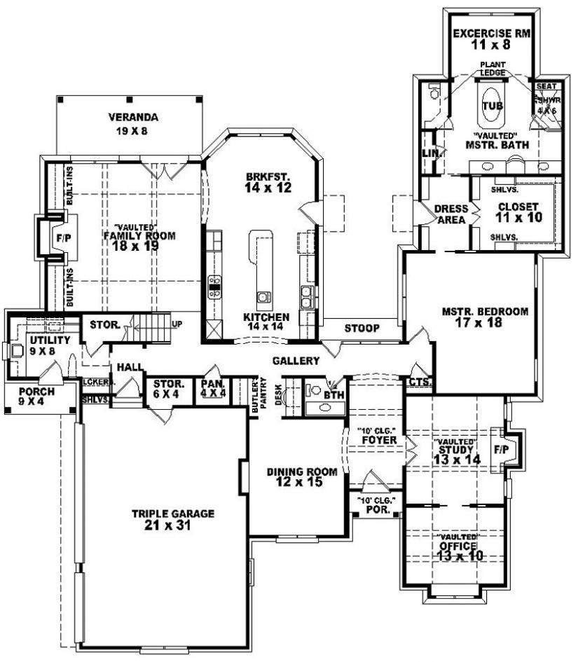 Bedroom Designs Two House Plans Small Front Porch