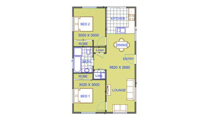 Bedroom Granny Flat Plans Two