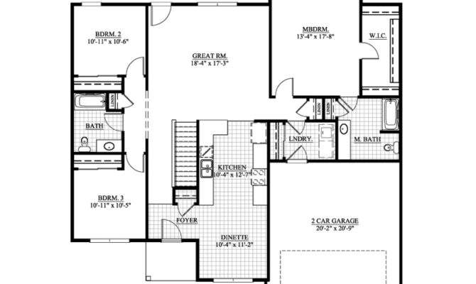 Bedroom House Plans Attached Garage