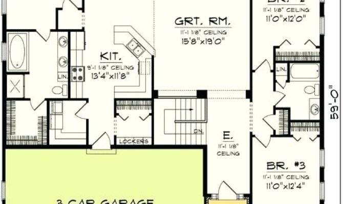 Bedroom House Plans Garage Betweenthepages Club