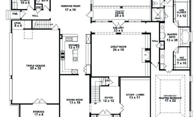 Bedroom House Plans Open Affordable Ranch