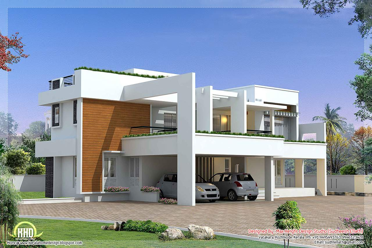 Bedroom Luxury Contemporary Villa Design House Plans