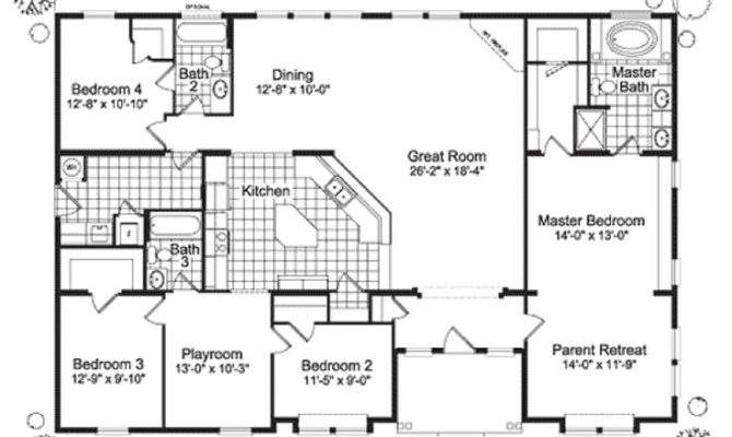 Bedroom Ranch Modular Home Plans House