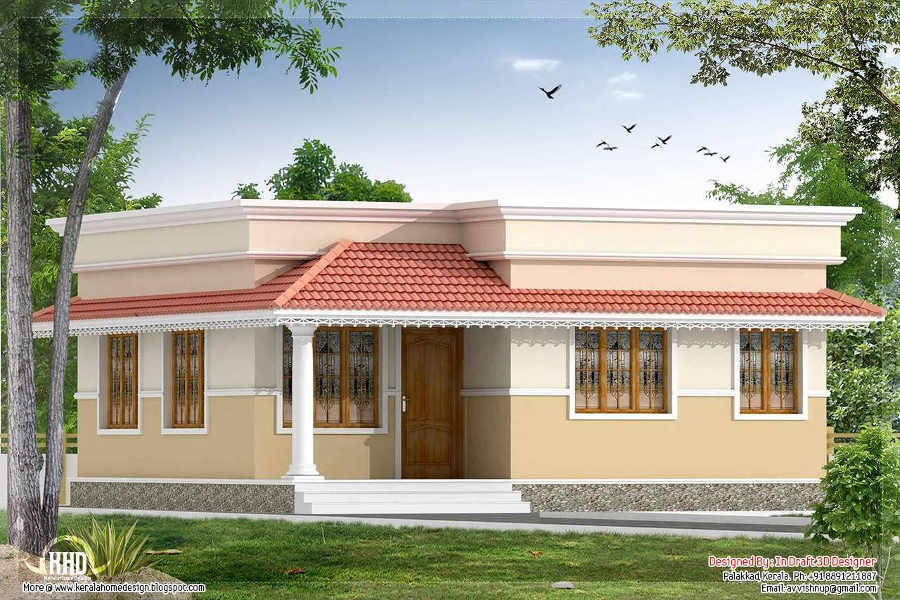 Bedroom Small Villa Kerala Home Design Floor Plans