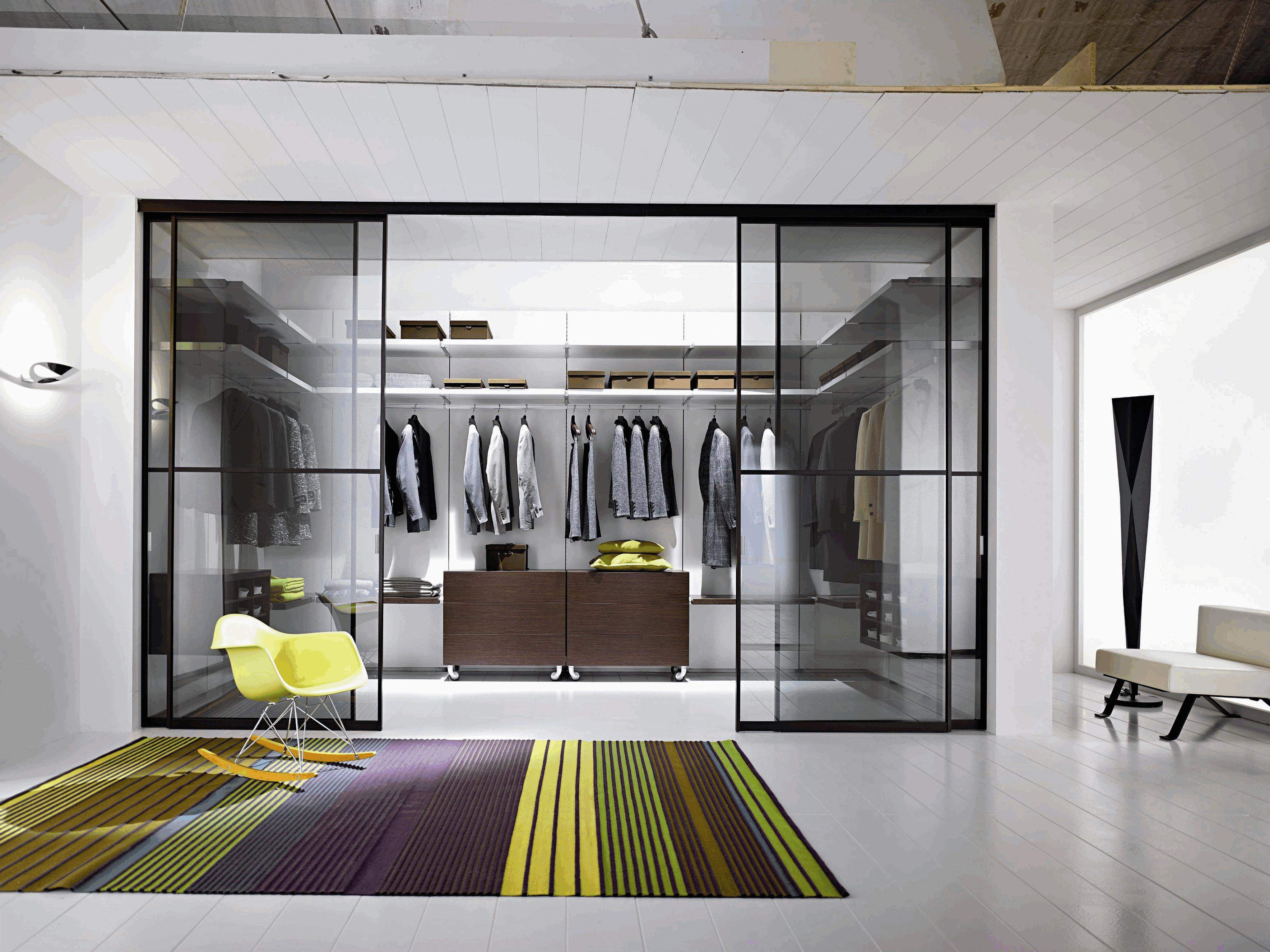 Bedroom Walk Closet Ideas Transparent Glass Shower Box