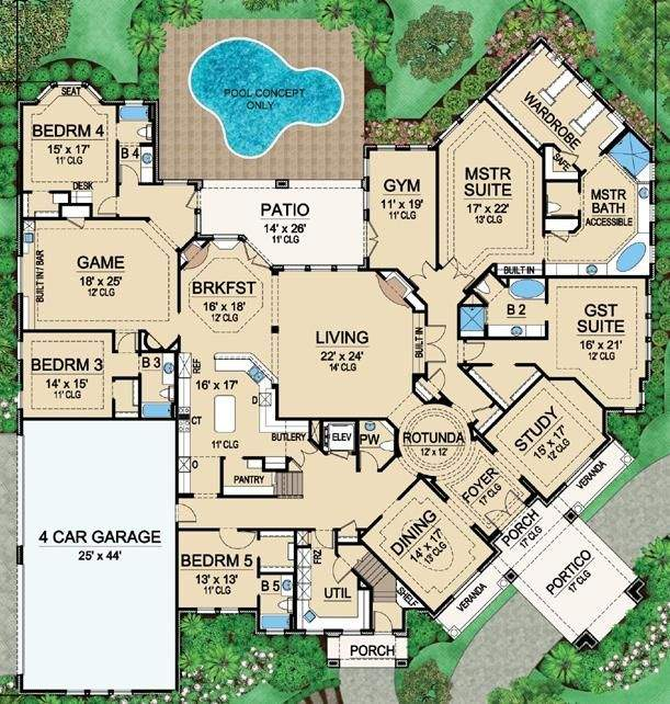 One Story Houses Open Floor Plans Eplans Country House