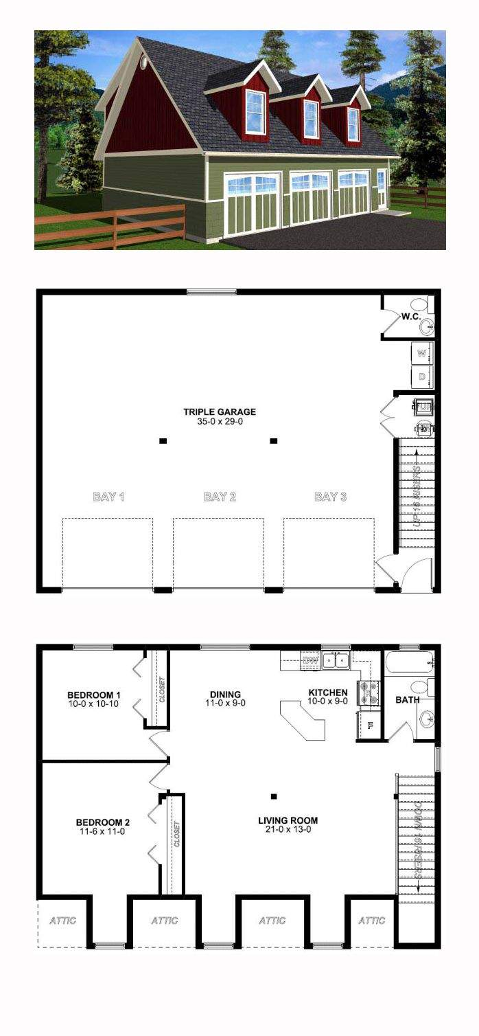 Best Garage Apartment Plans Pinterest