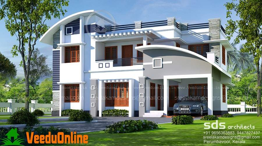 Bhk Double Floor Modern Home Design