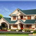 Bhk Sloping Roof Home Design Kerala