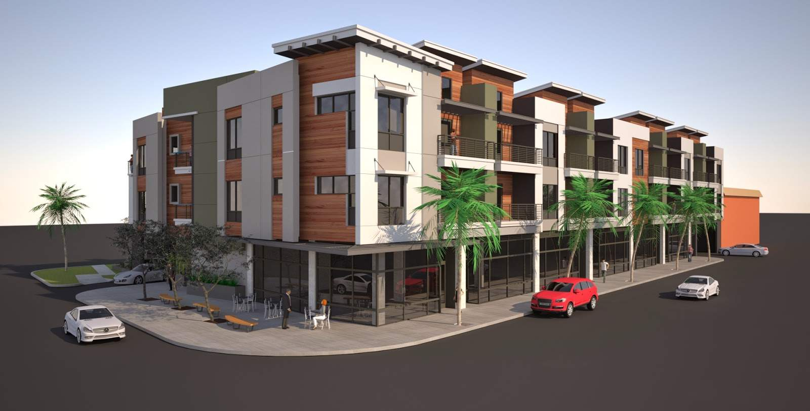 Building Los Angeles Mixed Oliver Apartments Rise Culver City