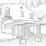 Cad Drawing House Line Drawings Deck Roof Sussex