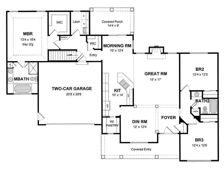 Cape Cod Colonial Cottage Country Ranch House Plan
