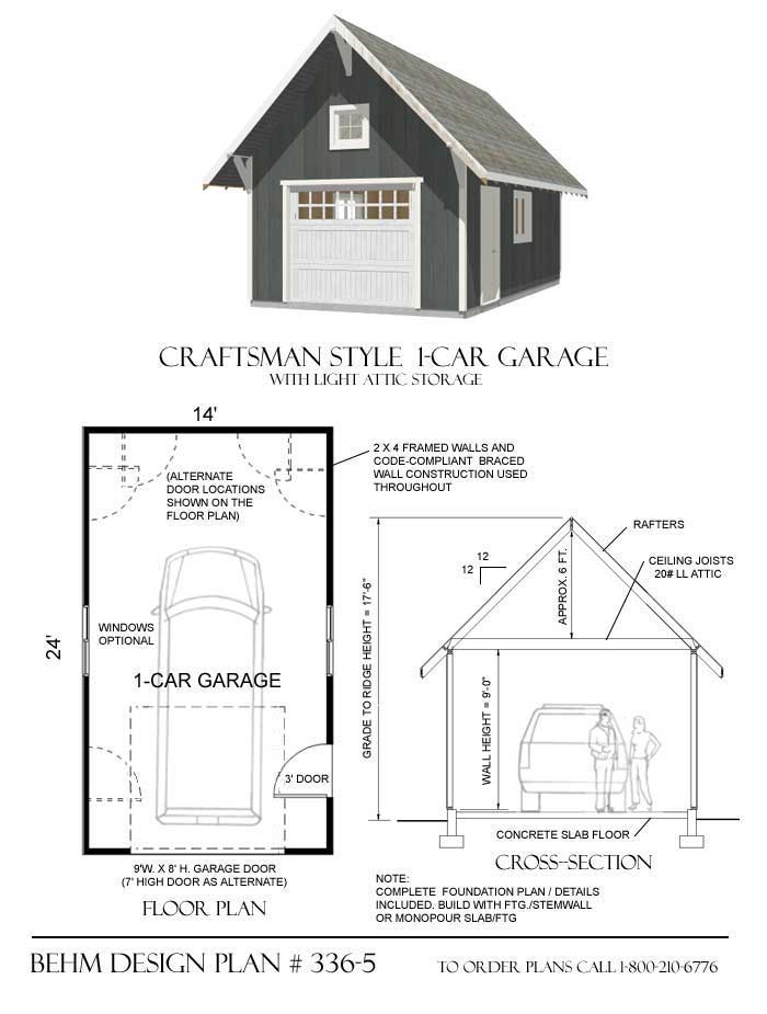Car Craftsman Style Garage Plans Behm