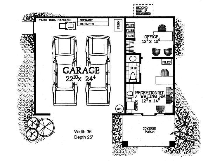 Car Garage Plans Country Traditional Two