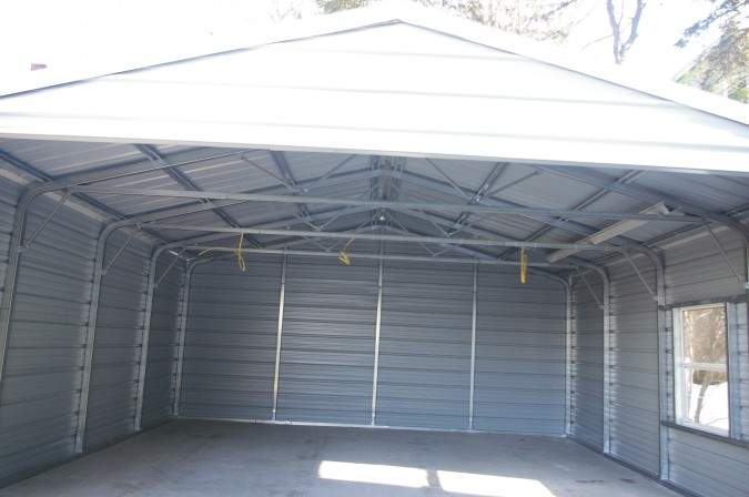 Car Steel Garage Addition Built Ready Cars