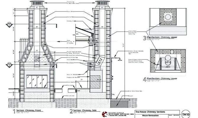 Chimney Construction Fireplace Drawings