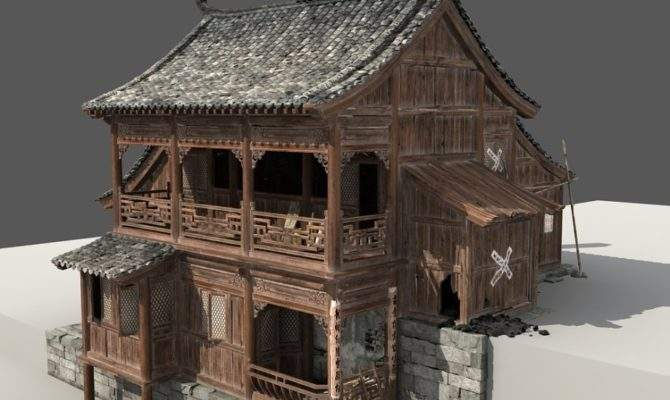 Chinese Old Wooden House Model Cgstudio